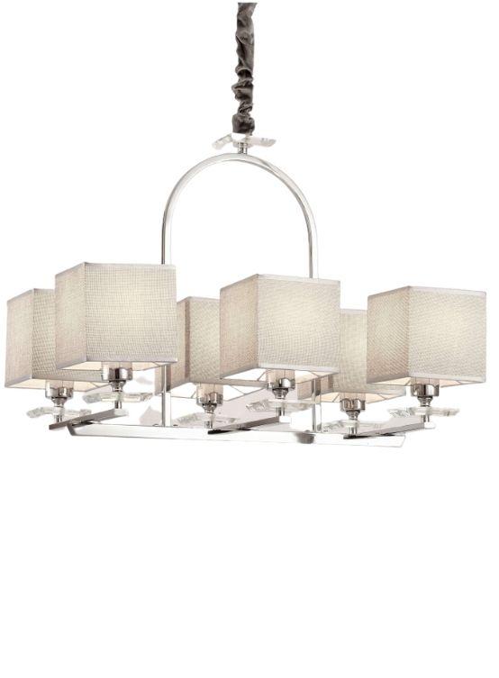 lampade a sospensione paralumi quadrati struttura cromata