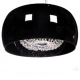 lampadario paralume 50 cm colore nero in vetro