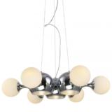 lampadario plafoniera sospensione sfere vetro metallo