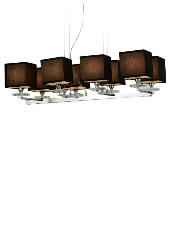 lampade quadrate da soffitto con paralume in tessuto nero