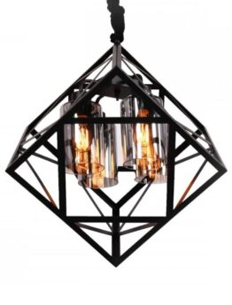 lampadario rustico gabbia