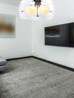 lampadario salone trasparente vetro moderno