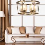 lampadari salotto ottone vetro a sospensione