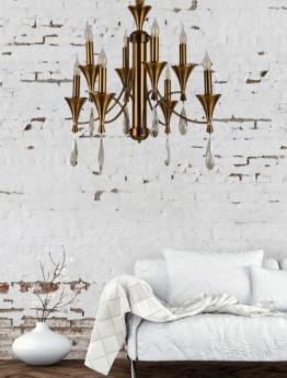 lampadario senza paralume ottone stile classico vintage