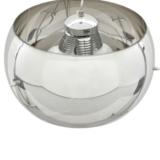 lampadario a soffitto cromato con paralume in vetro sferico