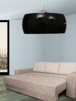 lampadario soffitto forma sferica colore nero da salotto