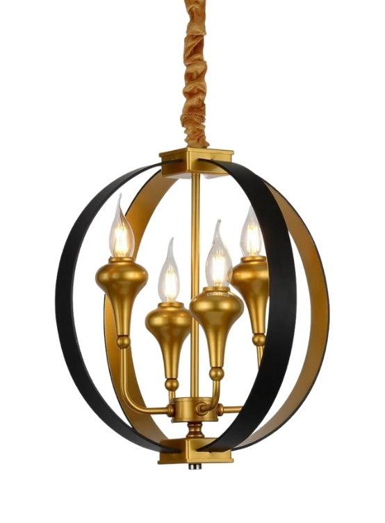 lampadario soffitto oro nero