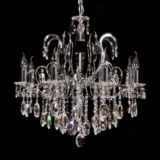 lampadario a sospensione stile classico cristalli con catena regolabile