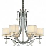 lampadario sospensione classico sfere cristallo e cristalli pendenti