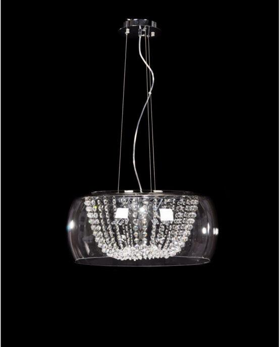 lampadario sospensione cristalli boemia