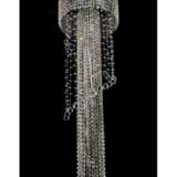 lampadario a sospensione con cristalli stile classico