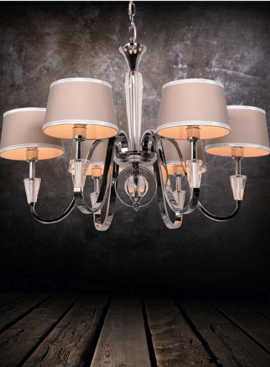 lampadario classico sospensione cristallo 6 luci per camera da letto