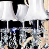 lampadario sospensione cristallo bianco