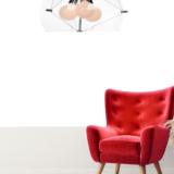 lampadario sospensione moderno paralume sferico vetro trasparente