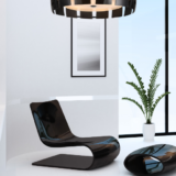 lampadario a sospensione nero in vetro