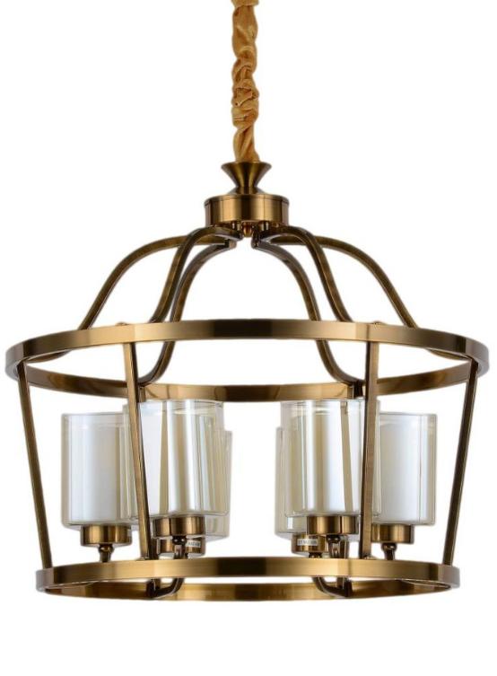 Lampadari sospensione vetro ottone moderni