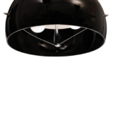 lampadario moderno a sospensione con paralume di colore nero in vetro