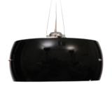 lampadario sospensione vetro nero moderno