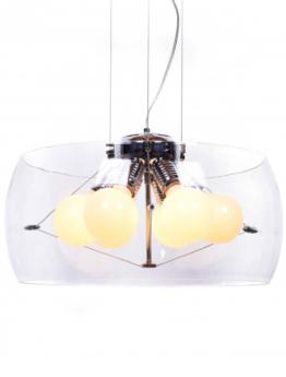 lampadario sospensione vetro trasparente moderno