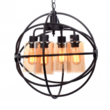 lampadario metallo nero rotondo stile industriale