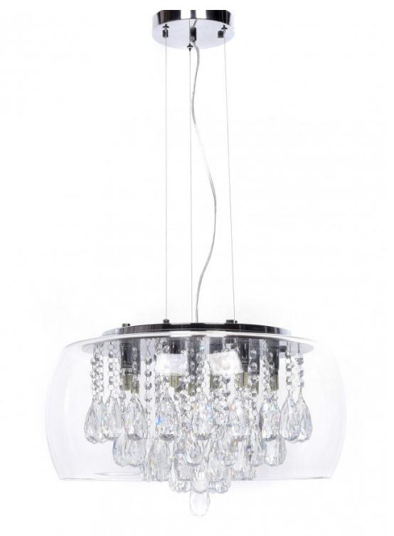 lampadario vetro cristalli a soffitto