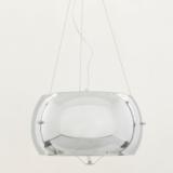 lampadario vetro cromato paralume 40 cm