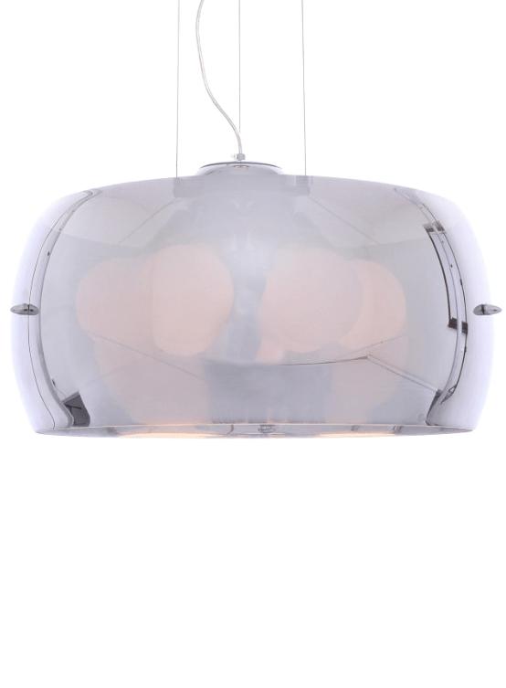 lampadario cromato vetro molto luminoso