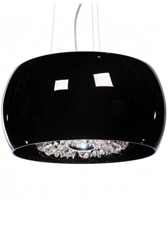 lampadario vetro nero