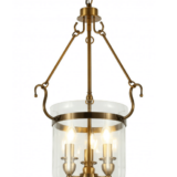 lampadario vetro e ottone a soffitto