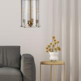 lampadario vetro trasparente soggiorno