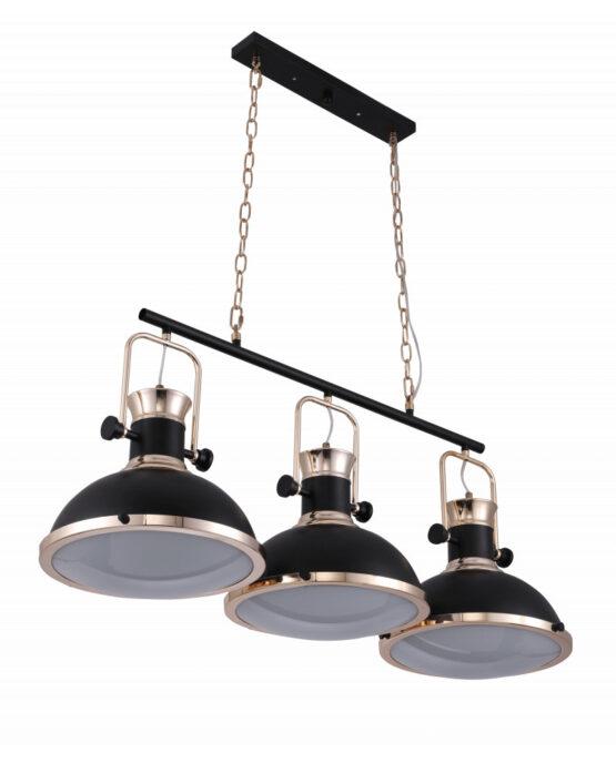 lampada soggiorno industriale 3 luci