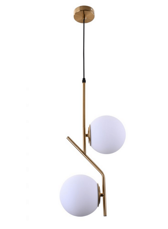 lampade arredo soggiorno con sfere vetro opalino
