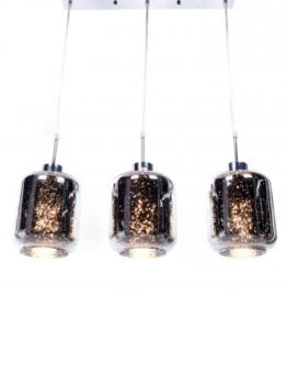 lampade barra metallo 3 luci con paralume argento