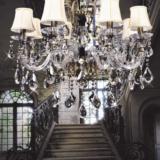 lampade classiche ottone a bracci in cristallo