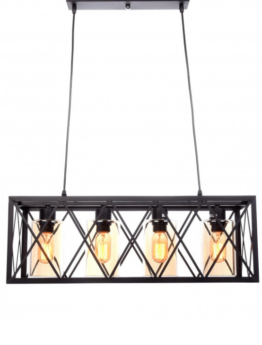 lampade nere in stile industriale