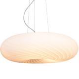 lampade moderne a sospensione forma rotonda vetro bianco Monarte
