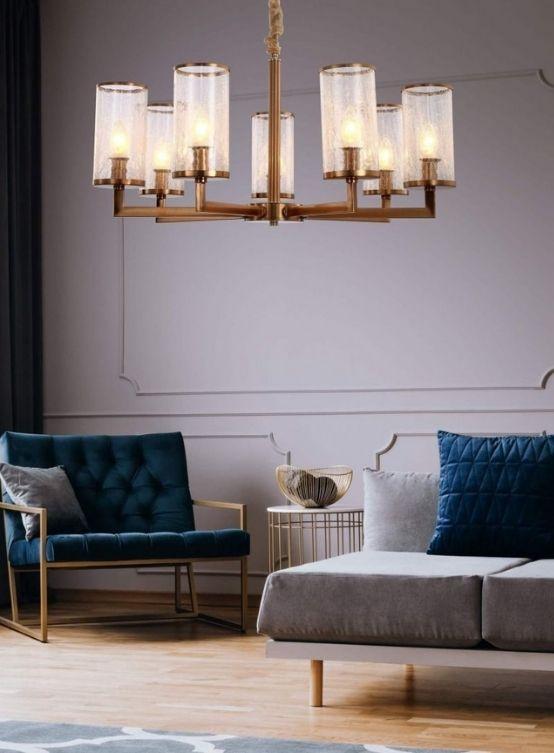 lampade a sospensione classiche vetro e ottone