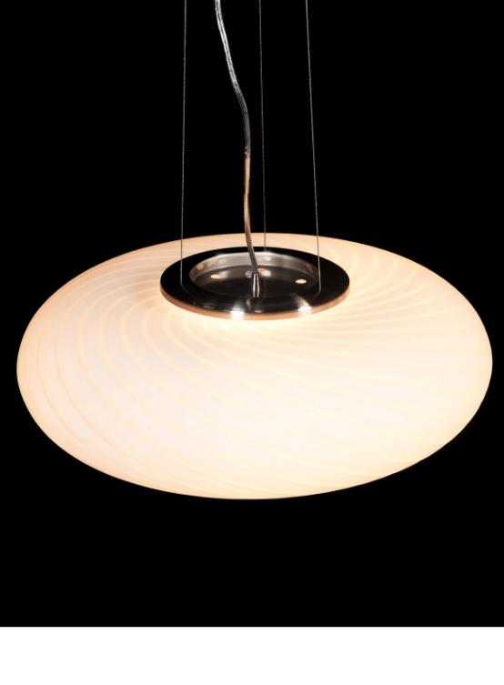 lampade a sospensione in vetro bianco dalla forma rotonda