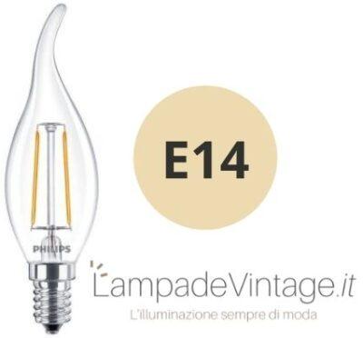 lampadina e14 a forma di candela
