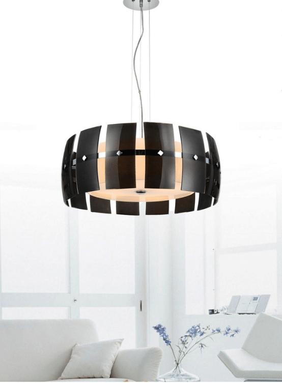 luce soffitto moderna rotonda nera