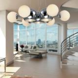 plafoniera a soffitto con palle di vetro