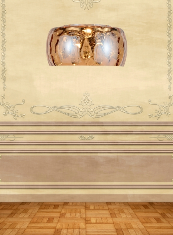 applique cristalli vetro ambra