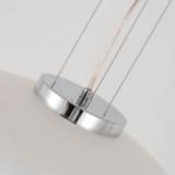 particolare dei cavi della lampada a sospensione bianca Raveo