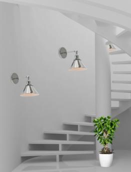 illuminare scale con applique moderne che girano introno alla chiocciola