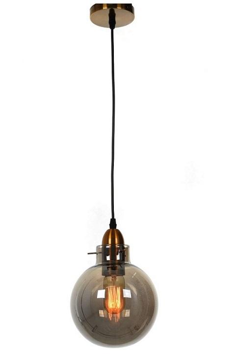 lampada industriale ottone e vetro sfera