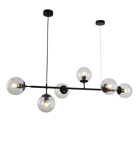 lampadario sospensione 6 luci design colore nero