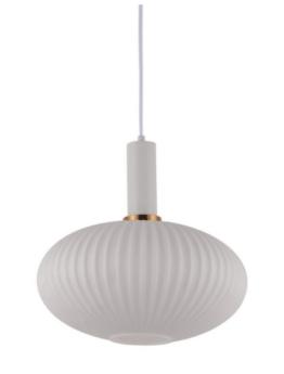 lampada bianca a soffitto con paralume in vetro