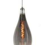 lampada sospensione a forma di goccia con paralume cromato