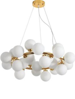 lampade soffitto con sfere di vetro bianco
