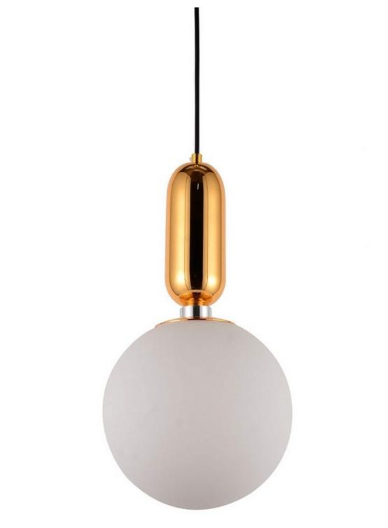 lampada a palla da soffitto con paralume bianco di diametro 20 cm